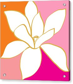Magnolia 4- Colorful Flower Art Acrylic Print