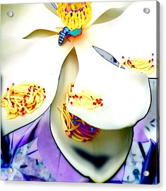 Magnolia Bee Acrylic Print