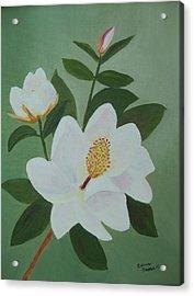 Magnolia Branch Acrylic Print by Edna Fenske