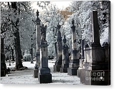 Magnolia Cemetery - Augusta Georgia - Confederate Military Graveyard  Acrylic Print by Kathy Fornal