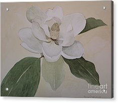 Acrylic Print featuring the painting Magnolia Delight by Nancy Kane Chapman