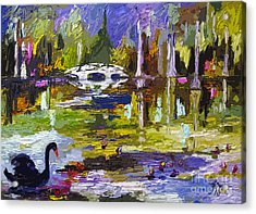 Magnolia Gardens Charleston South Carolina Modern Art Acrylic Print