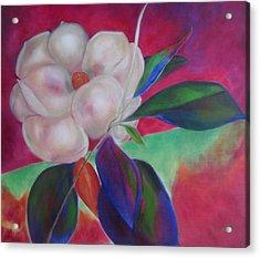 Magnolia I Acrylic Print by Susan Hanlon