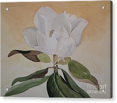 Acrylic Print featuring the painting Magnolia Morning by Nancy Kane Chapman