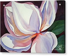Acrylic Print featuring the painting Magnolia by Shirin Shahram Badie
