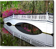 Magnolia White Bridge Acrylic Print