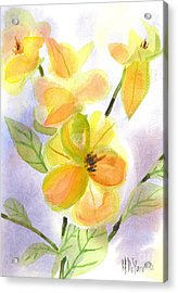 Acrylic Print featuring the painting Magnolias Gentle by Kip DeVore