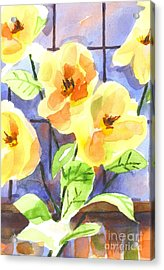 Acrylic Print featuring the painting Magnolias by Kip DeVore