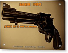 Magnum Force Custom Acrylic Print by Movie Poster Prints