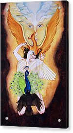 Magnum Opus An Allegory Of Spiritual Alchemy Acrylic Print by Rebecca Barham
