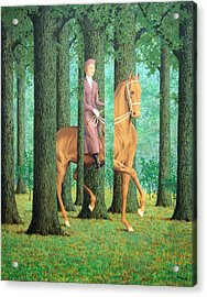 Magritte's The Blank Signature Acrylic Print