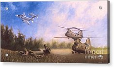 Magtf Vietnam Acrylic Print by Stephen Roberson