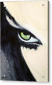 Acrylic Print featuring the painting Magyar Eyes by Ed  Heaton