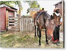 Mahaffie Stagecoach Stop And Farm Acrylic Print by Liane Wright