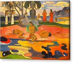 Mahana No Atua Aka. Day Of The Gods Acrylic Print by Paul Gauguin