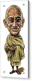 Mahatma Gandhi Acrylic Print by Art