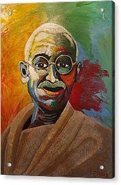 Mahatma Acrylic Print by George Tatakis
