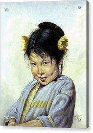 Mai Li Acrylic Print by Gregory Perillo