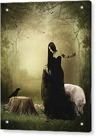 Maiden Of The Forest Acrylic Print by Sharon Lisa Clarke
