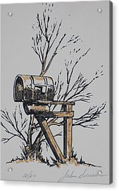 Mail Box Acrylic Print by John  Svenson