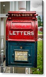 Mail Box Acrylic Print by Paul Freidlund