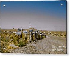 Mail Call In Arizona Acrylic Print by Deborah Smolinske