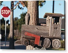 Mail Stop Acrylic Print by Caitlyn  Grasso