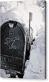 Mailbox Buried In Snow Acrylic Print by Birgit Tyrrell