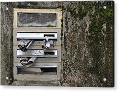 Mailbox With Old Newspapers Acrylic Print