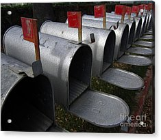 Mailboxes Acrylic Print by Dan Julien