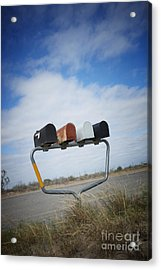 Acrylic Print featuring the photograph Mailboxes by Erika Weber