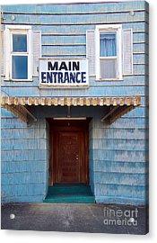 Main Entrance Acrylic Print by MaryJane Armstrong