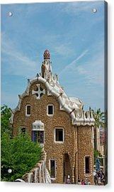 Main Gatehouse To Gaudi Park Acrylic Print by Jan and Stoney Edwards