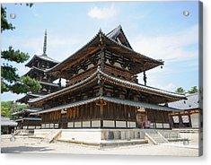 Main Hall Of Horyu-ji - World's Oldest Wooden Building Acrylic Print