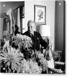 Main Rousseau Bocher In His Living Room Acrylic Print by Horst P. Horst