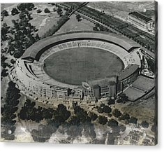 Main Stadium For The 1956 Olympic Games,, Melbourne Cricket Ground. Acrylic Print by Retro Images Archive