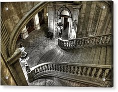 Main Staircase From Above Acrylic Print