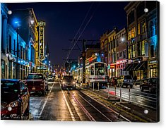 Main Street Blues Acrylic Print by Carlos Ruiz