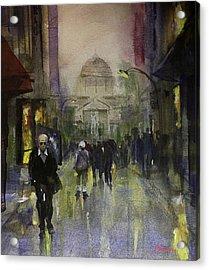 Main Street Acrylic Print by Carlos Herrera