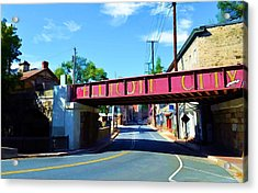 Acrylic Print featuring the photograph Main Street - Ellicott City by Dana Sohr