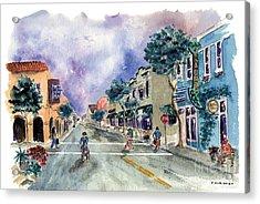Main Street Half Moon Bay Acrylic Print