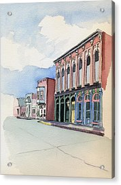 Acrylic Print featuring the painting Main Street In Gosport by Katherine Miller