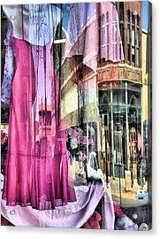 Main Street Reflections Acrylic Print