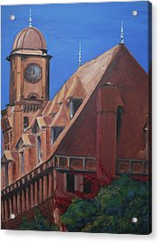 Acrylic Print featuring the painting Main Street Station by Donna Tuten