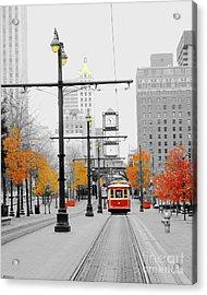Main Street Trolley  Acrylic Print