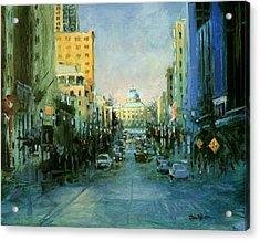 Main Street Twilight Acrylic Print