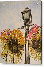 Main Street Acrylic Print by Valerie Lynch