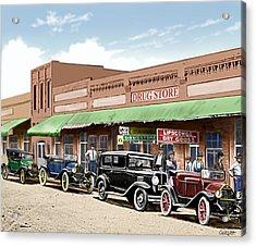 Old Main Street Grapevine Texas Acrylic Print