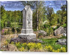 Maine At Gettysburg - 5th Maine Volunteer Infantry Regiment Just North Of Little Round Top Acrylic Print
