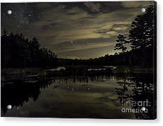 Maine Beaver Pond At Night Acrylic Print